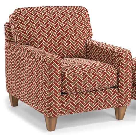 upholstered seat cushions flexsteel macleran upholstered chair with reversible seat