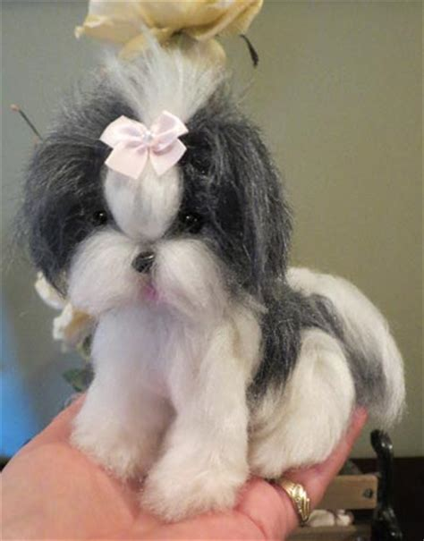 shitsu poodle with long hair shih tzu black and white long hair by designs by karen at