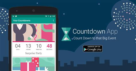 countdown app android countdown app by timeanddate for android