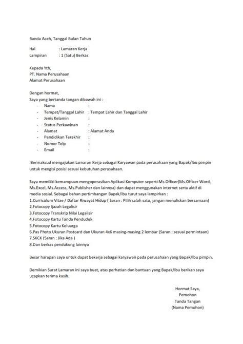 Contoh Lop Lamaran Kerja Telkomsel by Surat Lamaran Kerja Telkomsel Ben Contoh Lamaran