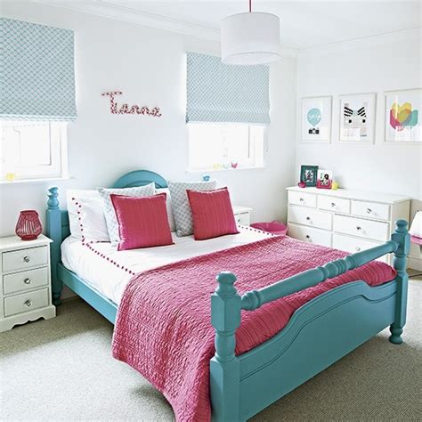 pink and turquoise bedroom child s vibrant pink and turquoise bedroom housetohome co uk