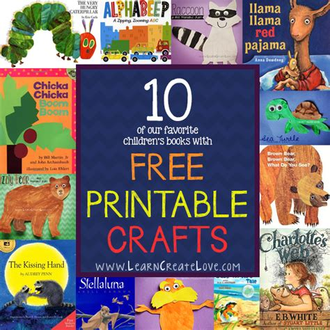 Paper Craft Books Free - learncreatelove printable crafts and craft ideas for