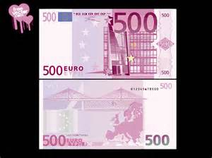 new 500 nota free vectors front back side of 500 euro banknote art
