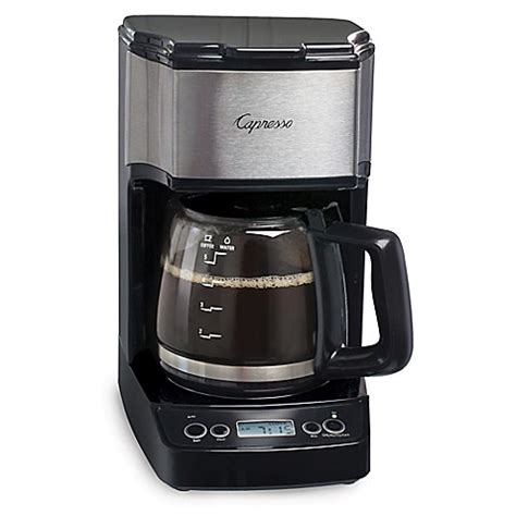 bed bath coffee maker capresso 174 5 cup minidrip programmable coffee maker bed