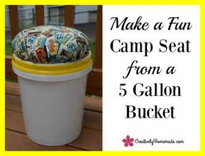 Make a fun camp seat from a 5 gallon bucket you can sit on it by the