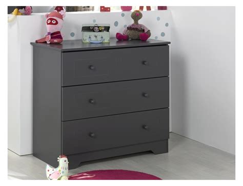 commode chambre enfant commode rangement anthracite oslo fabrication fran 231 aise