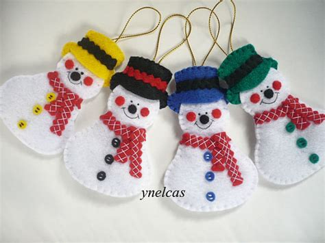 Snowman Handmade - items similar to one ornament snowman handmade