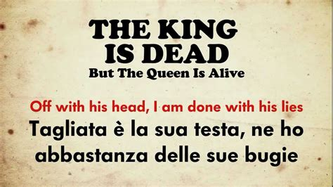 alive testo p nk the king is dead but the is alive testo e