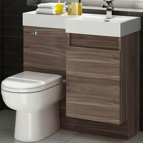 Toilet Sink Combination by 906 X 880mm Curved Toilet Sink Walnut Vanity Unit
