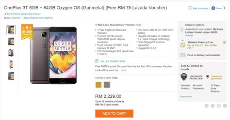 Hp Oneplus 2 Lazada update lazada offers attractive discount for local oneplus 3t smartphone lowyat net