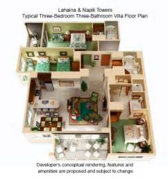Marriott Aruba Surf Club 3 Bedroom Floor Plan by Marriott Vacation Club Ko Olina Floor Plans Trend Home
