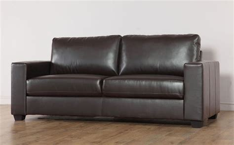 sofas sale uk only mission brown leather 3 seater sofa only 163 349 99