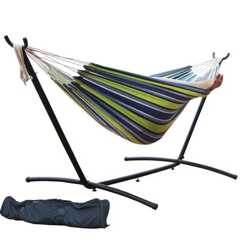Buy Hammock And Stand 13ft Garden Patio Assembled Arc Cotton Hammock With