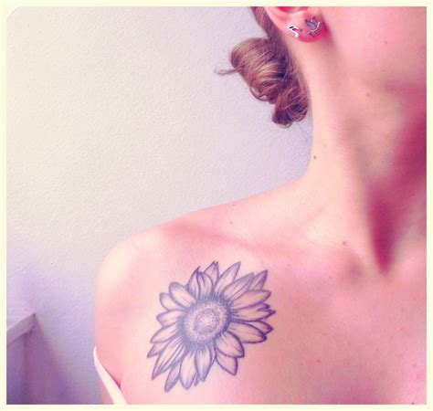 simple sunflower tattoo simple neck sunflower creativefan