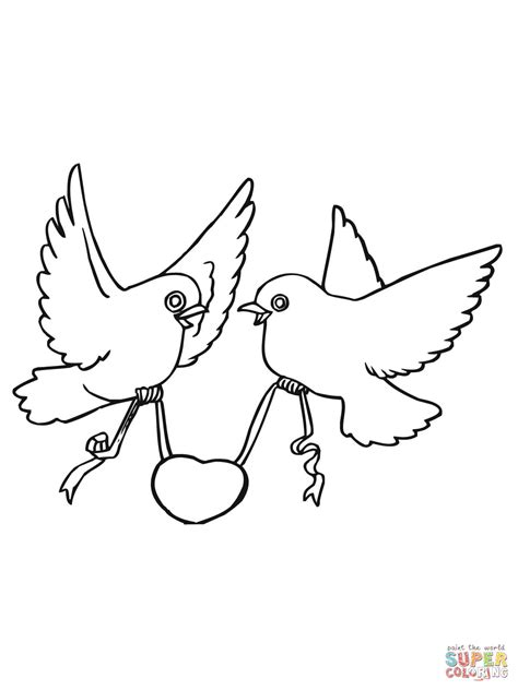 coloring pages love birds love birds with hearts coloring page free printable