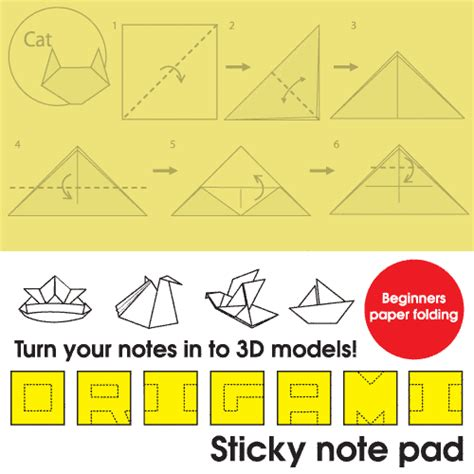 How To Make Origami With Sticky Notes - handmade by deb origami sticky note