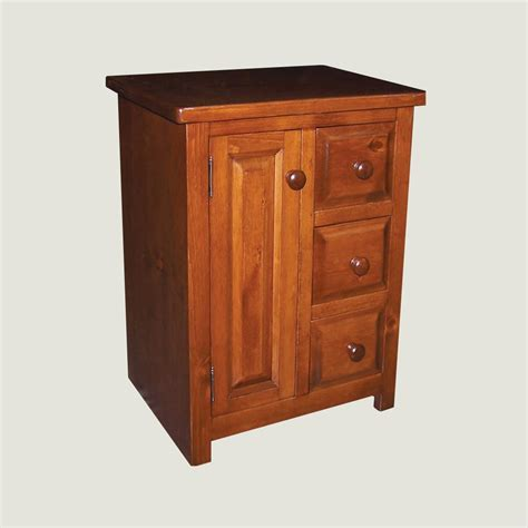 Nightstand With Door And Drawer Nightstand 3 Drawer 1 Door True
