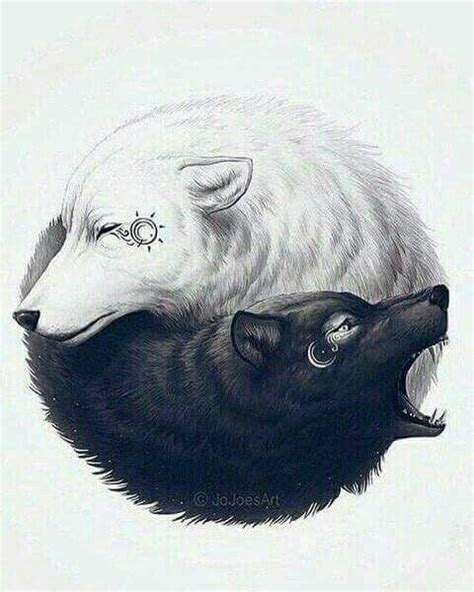 yin yang wolf tattoo best 25 two wolves ideas on chest