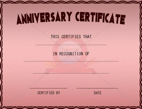 42 Best Adoption Certificate Templates Images On Pinterest Adoption Certificate Certificate Wedding Anniversary Certificate Template