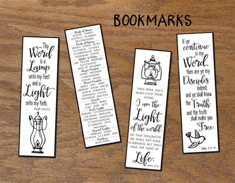 printable bookmarks with names thy word christian bookmarks instant download diy printable