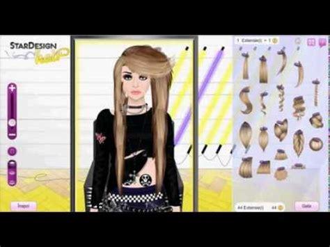 tutorial wig stardoll scene emo wig stardoll tutorial youtube