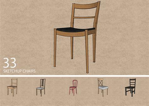 sketchup chair models sketchucation