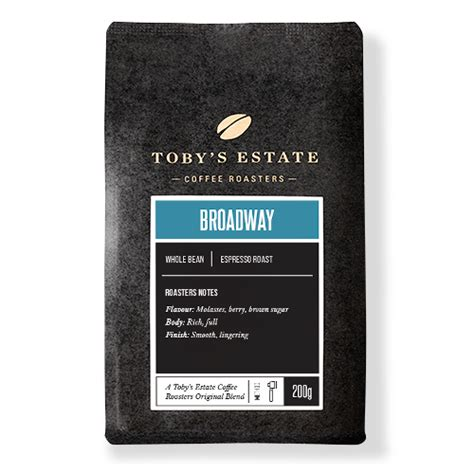 tobys estate  coffee beans gm