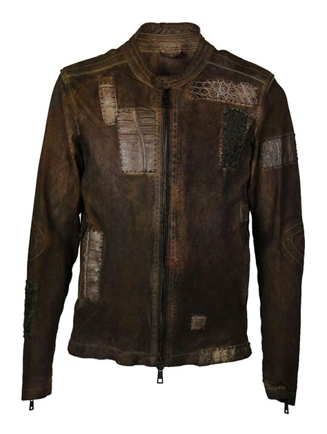 Patchwork Jacket Mens - giorgio brato patchwork jacket brown s coats