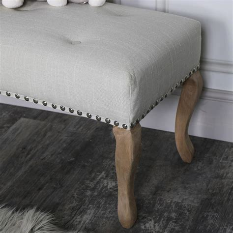 linen upholstered bench cream linen upholstered bench melody maison 174
