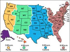 us time zone map time conversion