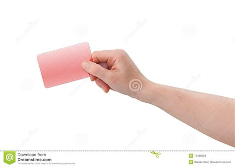 Holding Credit Card Template Holding Plastic Business Or Credit Card Royalty Free Stock Photos Image 18480528