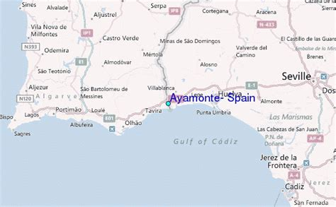 Regional Map Local Map Detailed Map | ayamonte spain tide station location guide