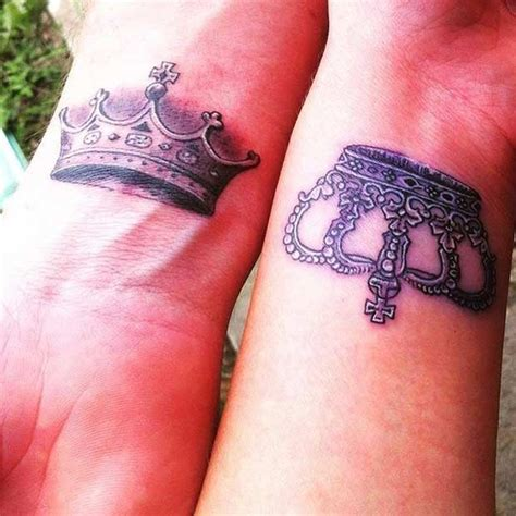 30 king and queen tattoos tattoofanblog 30 best king queen tattoos images on pinterest couple