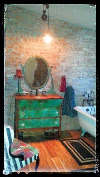 Sk s copper patina and oak bath vanity hometalk