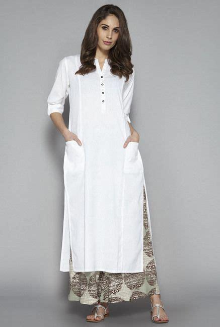 pattern of long kurta plain white kurta for women www pixshark com images