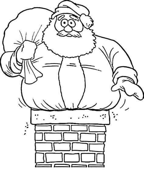 coloring pages of santa claus coloring home