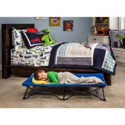 regalo my cot blue portable travel bed with travel bag