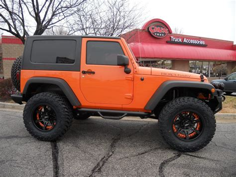orange jeep lifted revtek 3 quot suspension lift system for 2007 2014 jeep