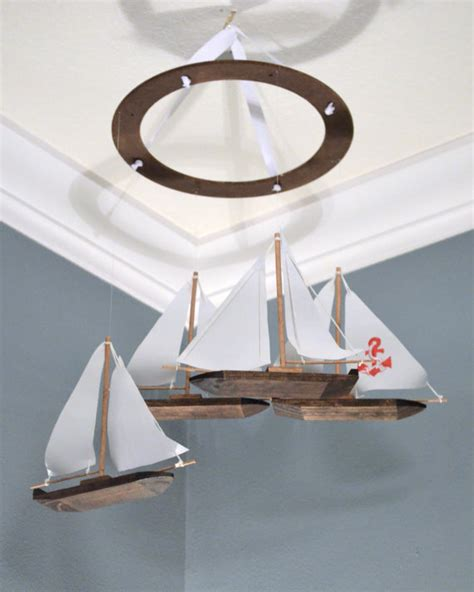 Sailboat Mobile For Crib by Items Similar To Sailboat Nursery Mobile Nautical Anchor