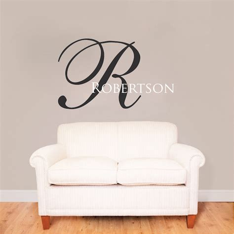 initial wall stickers big initial name wall decal custom interior home family