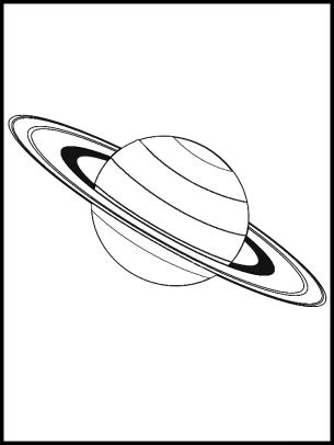 printable pictures of saturn saturn coloring sheet