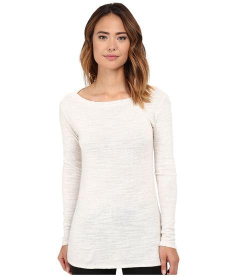 boat neck tunic sweater lyst michael stars sweater knit long sleeve boat neck