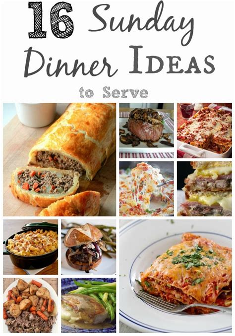 melissa kaylene 16 sunday dinner ideas to serve