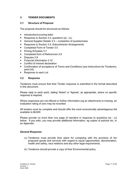 Acceptance Letter For Tender Invitation Invitation To Tender
