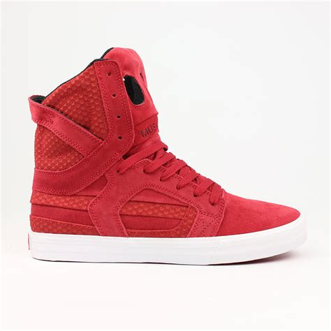 high top shoes for supra shoes skytop 2 high top cardinal white