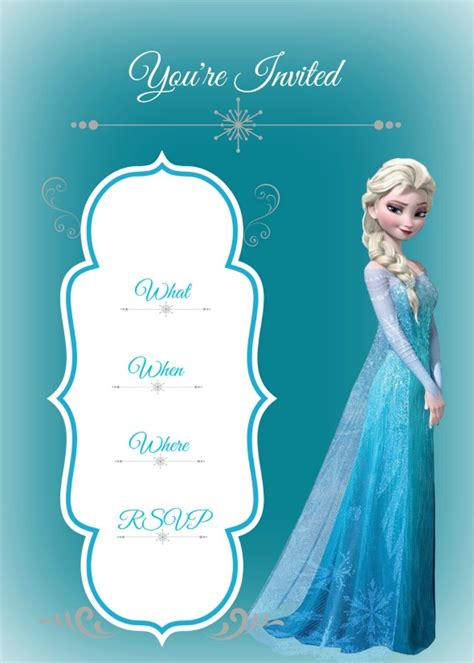 frozen birthday card template disney frozen birthday invitation templates theruntime