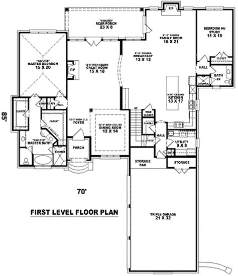 florida style house floor plans california style