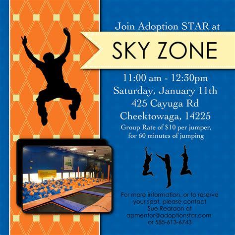 printable sky zone birthday invitations adoption star newsletter january 2014
