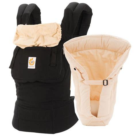 Ergobaby Carrier Original ergobaby original bundle of infant carrier with insert black camel
