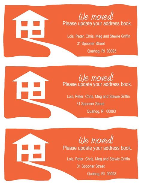 printable moving house cards 25 best ideas about change of address cards on pinterest